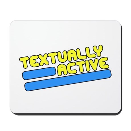 Textually Active Mousepad