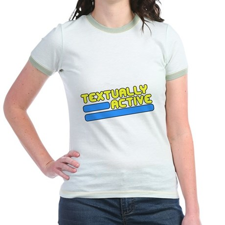 Textually Active Jr Ringer T-Shirt