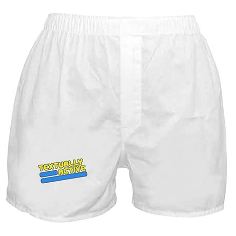 Textually Active Boxer Shorts