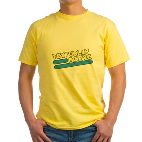 Textually Active Yellow T-Shirt
