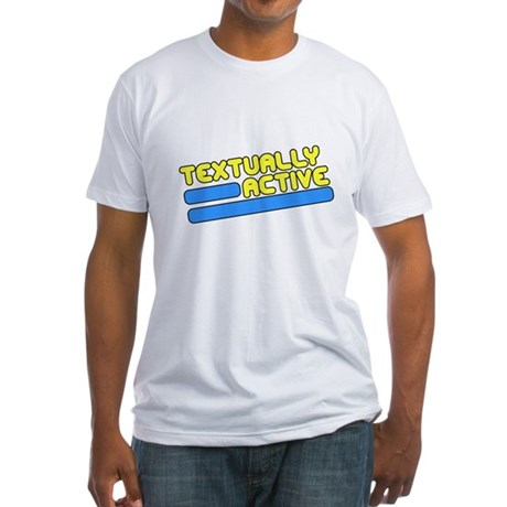 Textually Active Fitted T-Shirt