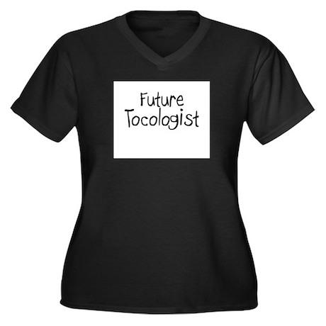 Future Tocologist Women's Plus Size V-Neck Dark T-