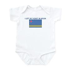 I LEFT MY HEART IN ARUBA Infant Bodysuit