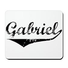 Gabriel Vintage (Black) Mousepad