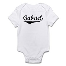 Gabriel Vintage (Black) Infant Bodysuit
