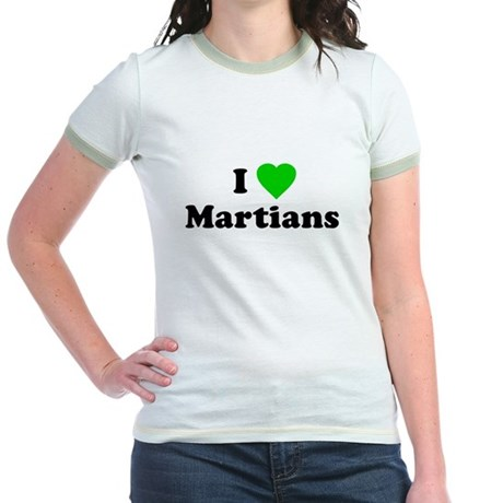 I Love Martians Jr Ringer T-Shirt