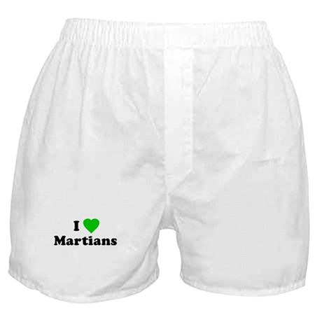 I Love Martians Boxer Shorts