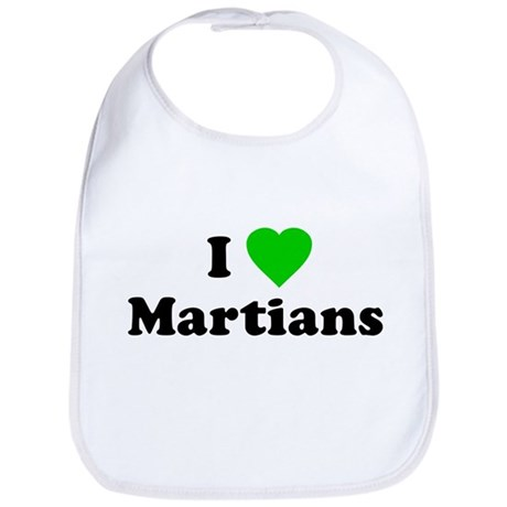 I Love Martians Bib