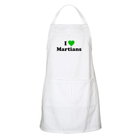 I Love Martians BBQ Apron