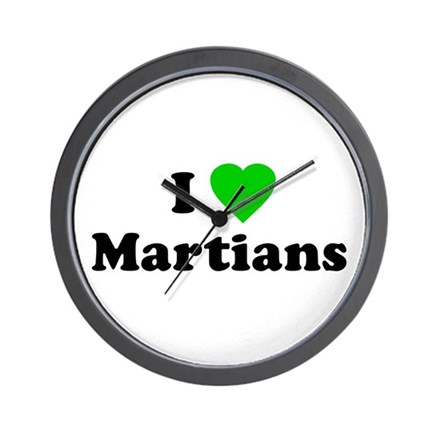 I Love Martians Wall Clock