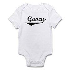 Gaven Vintage (Black) Infant Bodysuit