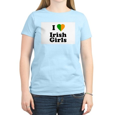 I Love Irish Girls Womens Pink T-Shirt