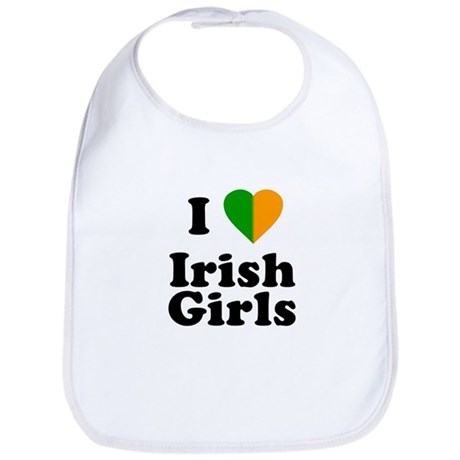I Love Irish Girls Bib