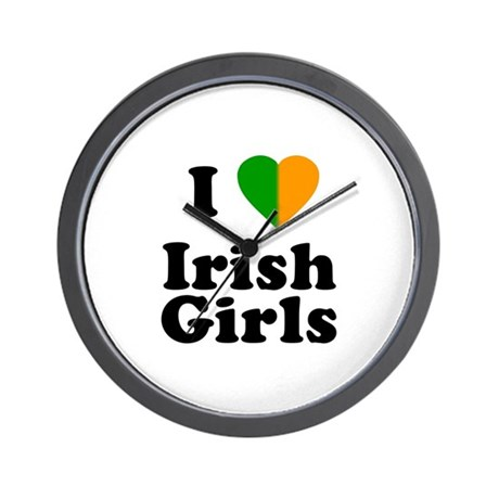 I Love Irish Girls Wall Clock