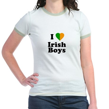 I Love Irish Boys Jr Ringer T-Shirt