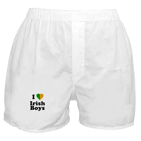 I Love Irish Boys Boxer Shorts