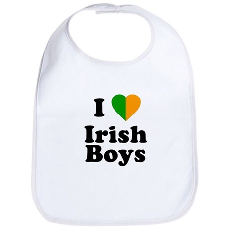 I Love Irish Boys Bib