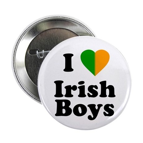 I Love Irish Boys Button