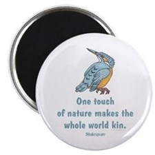 "Shakespeare Nature & Peace Quote 2.25"" Magnet (10"