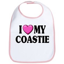I Love ( Heart ) My Coastie Bib