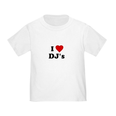 I Love DJ's Toddler T-Shirt