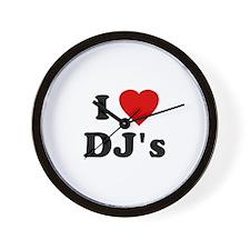 I Love DJ's Wall Clock