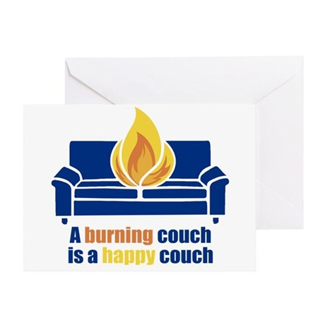Happy Couch Greeting Card