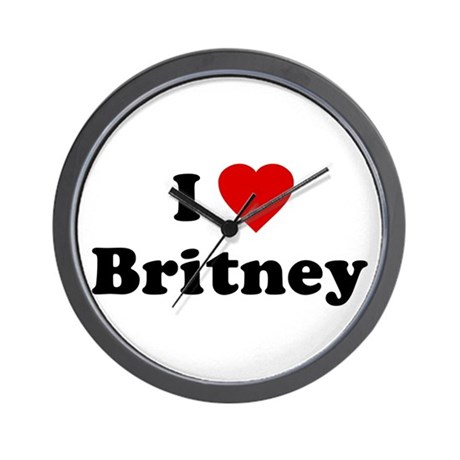 I Love Britney Wall Clock