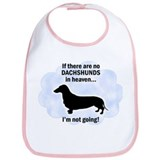 Dachshunds In Heaven Bib