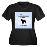 French Bulldogs In Heaven Women's Plus Size V-Neck