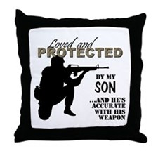 Funny Army son Throw Pillow