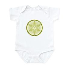 Tan Flower Crop Circles Infant Bodysuit