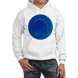 Blue Julia Set Crop Circles Jumper Hoody