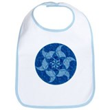 Flower Water Crop Circle Bib