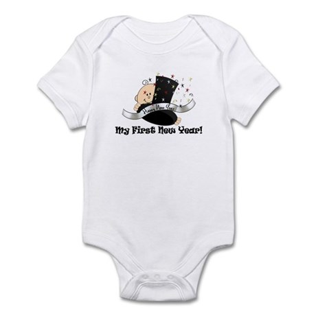 Top Hat New Year Infant Bodysuit