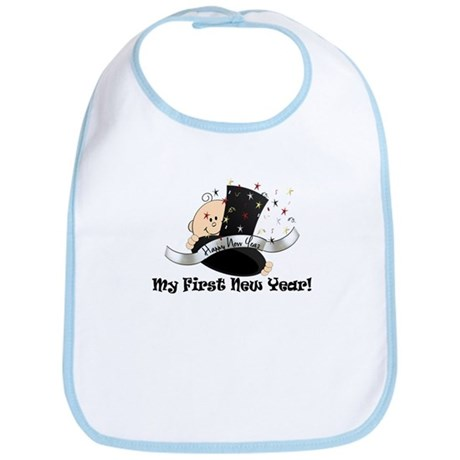 Top Hat New Year Bib