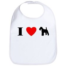 I Heart Wirehaired Fox Terrier Bib