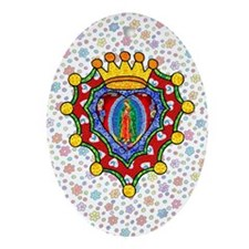 Guadalupe Crown Milagro Oval Ornament