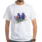 Bluebonnets with Indian Paint White T-Shirt