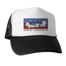 Merry Christmas Westies Trucker Hat