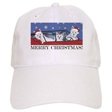 Merry Christmas Westies Baseball Cap