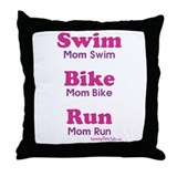 Triathlon Mom Throw Pillow