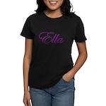 Ella Script Women's Dark T-Shirt