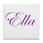 Ella Script Tile Coaster