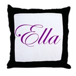 Ella Script Throw Pillow