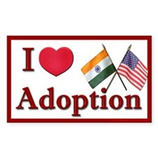 I Love Adoption Sticker (India/USA)