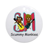 Scummy Monkies Ornament (Round)