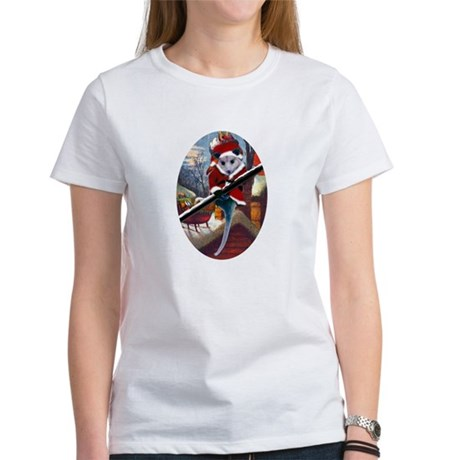 Possum Santa on Rooftop Women's T-Shirt