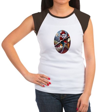 Possum Santa on Rooftop Women's Cap Sleeve T-Shirt