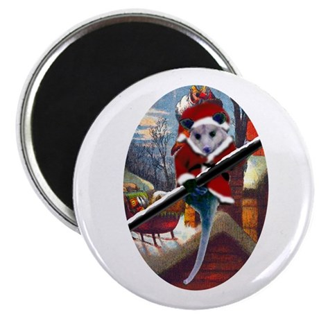 "Possum Santa on Rooftop 2.25"" Magnet (100 pack)"